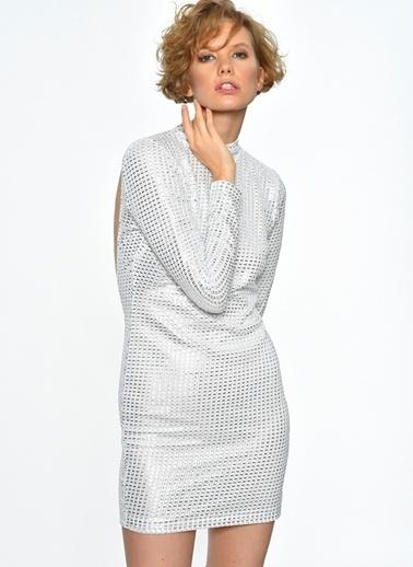 Motel Rocks Elbise Gümüş